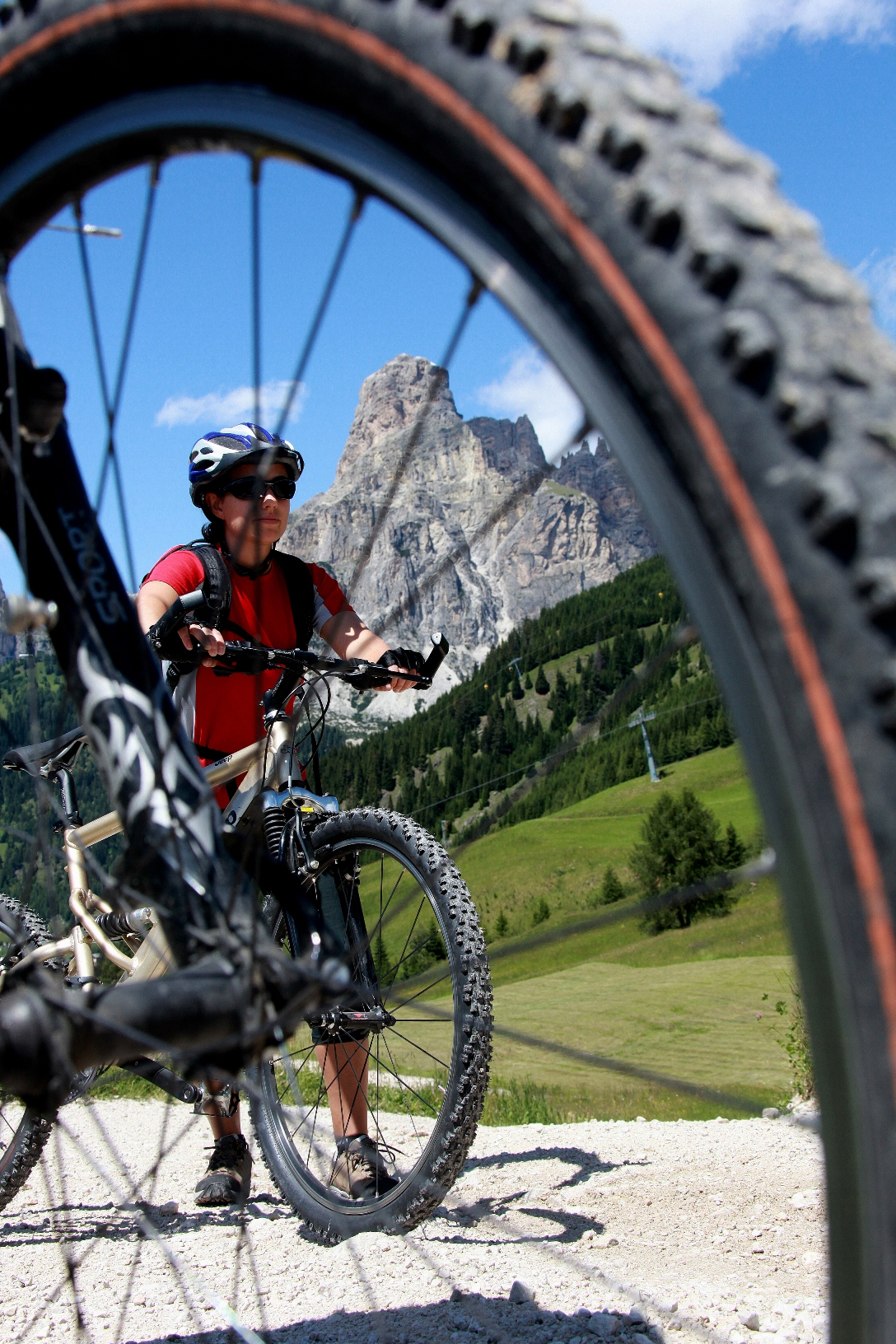 Bike Sharing in Alta Badia a quota 2000 metri