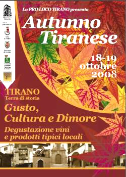 Tirano: autunno da vivere in Valtellina