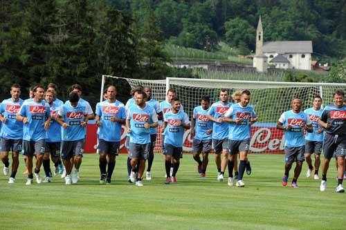 Calcio Napoli in Val di Sole