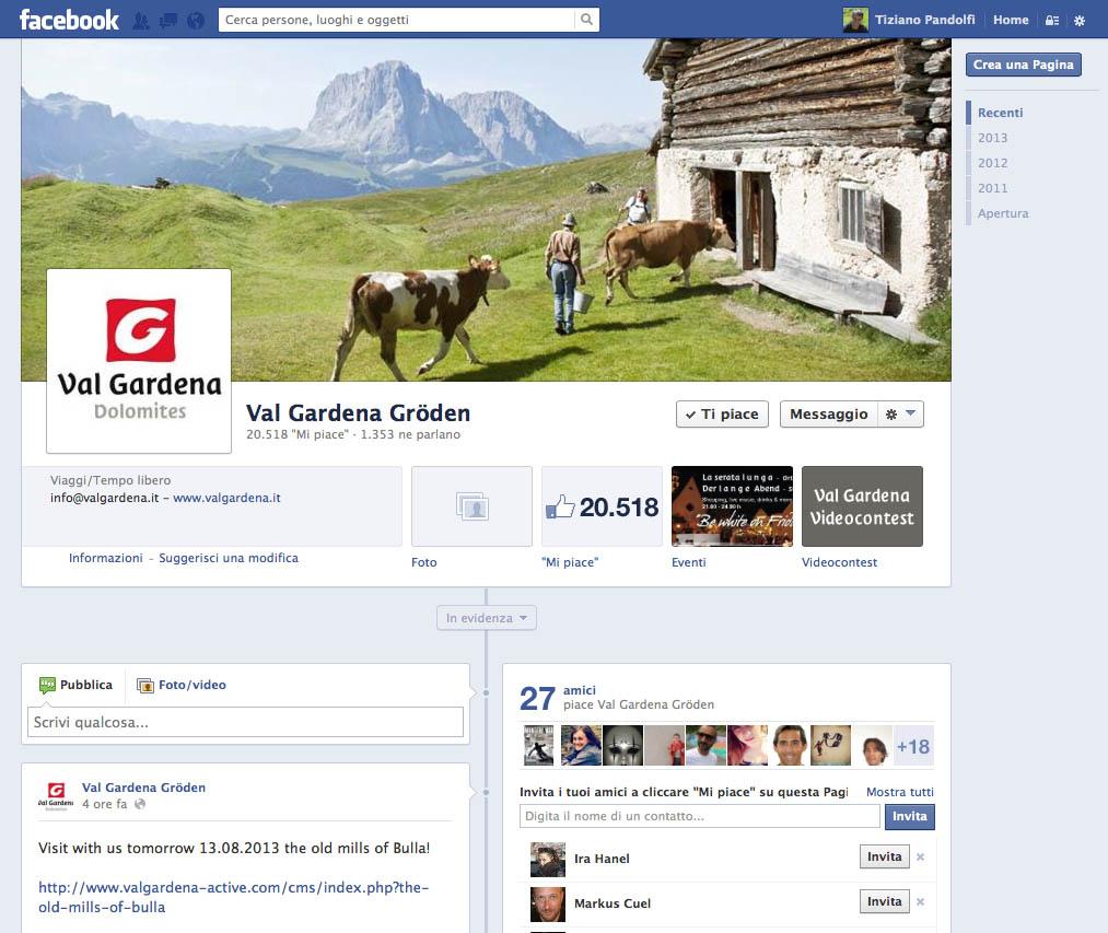 Val Gardena Facebook, al via il concorso video dedicato a tutti i fan