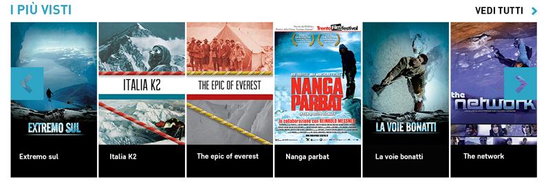 PlayAlpinismo: cinema di montagna online