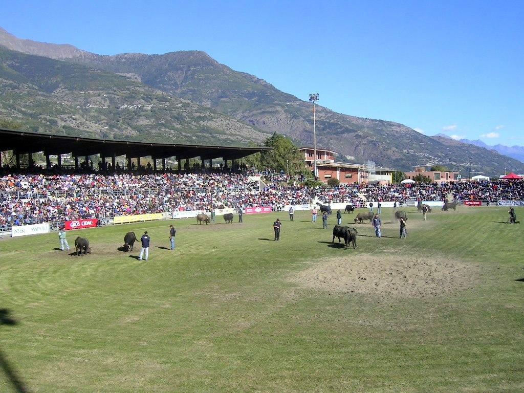 """Aosta, la finale della """"Bataille des Reines"""" 2009"""