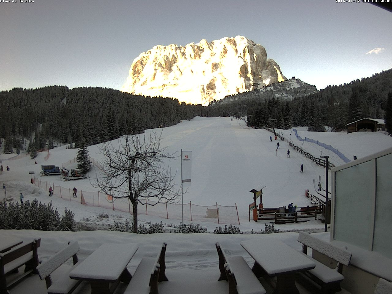 Finalmente la neve sulle Alpi
