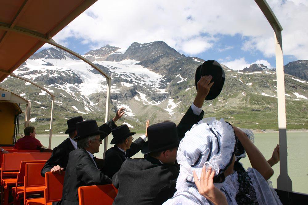 Un viaggio nel passato sul trenino del Bernina